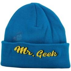 Синяя шапка Mr. Geek