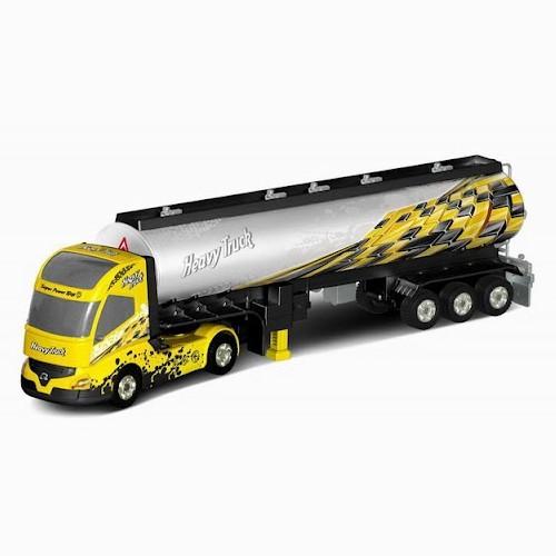 Радиоуправляемый грузовик с прицепом - QY0201D