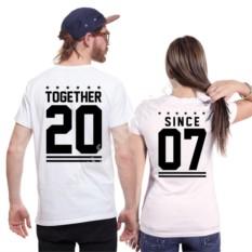 Парные футболки с вашей датой Together since