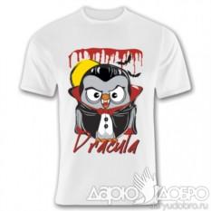Мужская футболка с совой Дракула Goofi