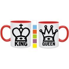 Парные кружки King, Queen
