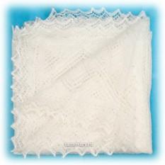 Оренбургский платок, ажурный, пуховый, экрю