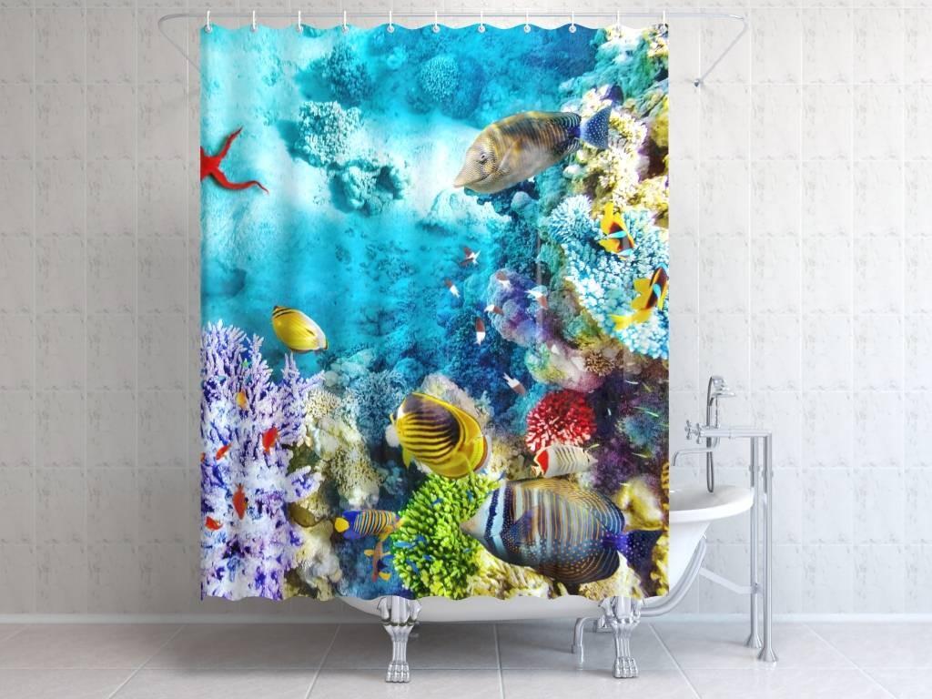 Штора для ванной Подводный мир