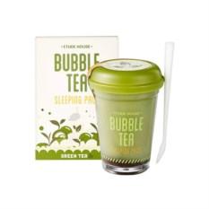 Ночная маска для лица Bubble Tea Зеленый чай