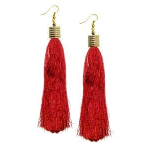 Серьги Tassel (красные)