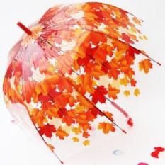 Зонт купольный Красные листья