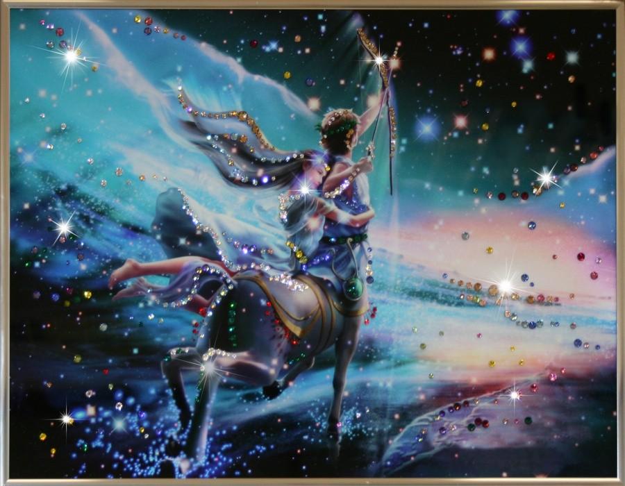 Картина с кристаллами Сваровски Стрелец Кагая