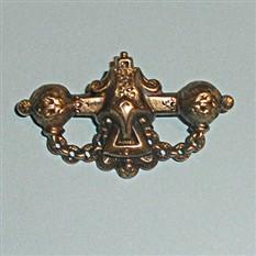 Антикварная серебряная брошь
