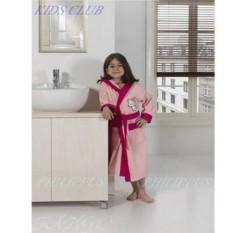 Детский махровый розовый халат