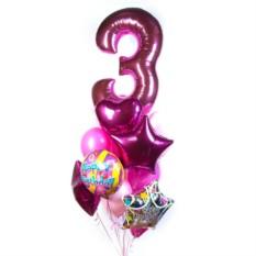 Букет из шаров на День рождения с цифрой