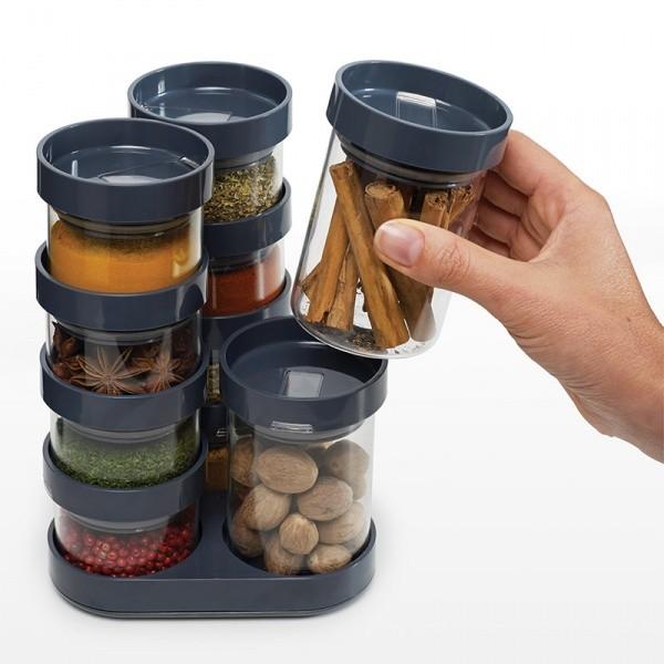 Набор для хранения специй Spice Store™ Carousel, серый
