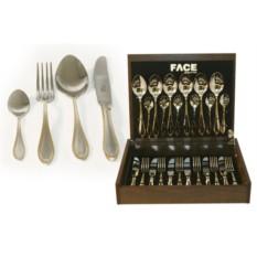 Набор столовых приборов на 6 персон Geneva Face