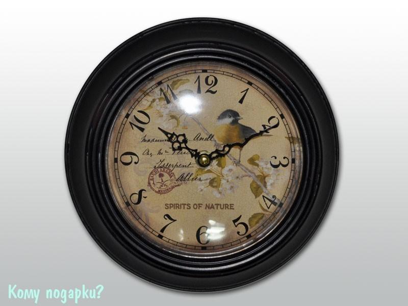 Часы настенные с рисунком «Синица»