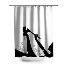 3D-штора для ванной Силуэт