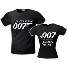 Футболки для влюблённых «Бонд 007»