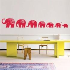 Интерьерная наклейка Слоны идут на север