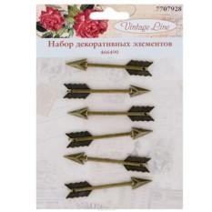 Набор декоративных элементов Vintage Line Стрелы, 6 шт.