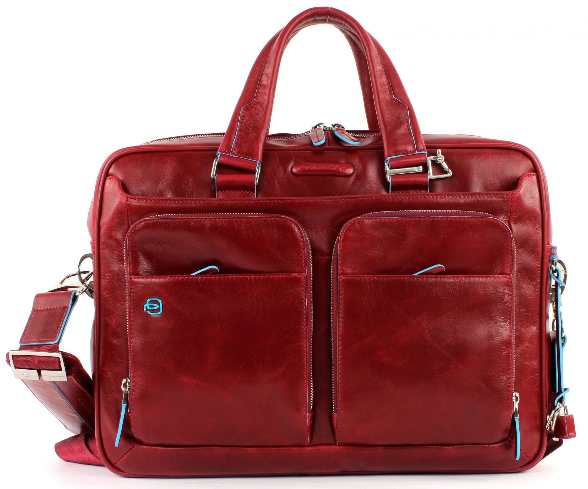 a64eb27f0fc6 Мужская красная сумка для ноутбука Piquadro Blue Square | Подарки.ру