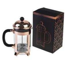 Розово-золотой заварочный кофейник-чайник Любимый напиток