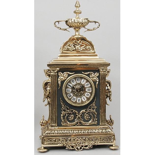 Часы бронзовые каминные Ампир