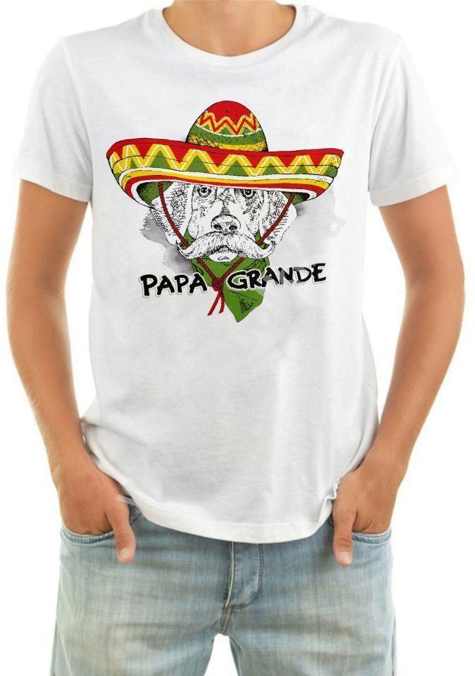 Мужская футболка с собакой Papa grande