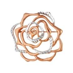 Золотая брошь в виде розы
