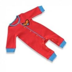 Детская пижама- комбинезон Britto Heart красного цвета