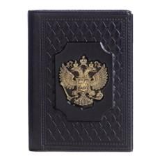 Черная обложка для документов «Держава»