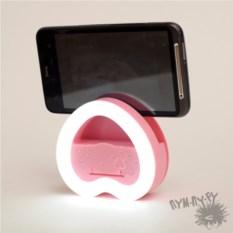 Розовая подставка-подсветка для селфи Сердце