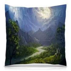Подушка с полной запечаткой Пейзаж красками