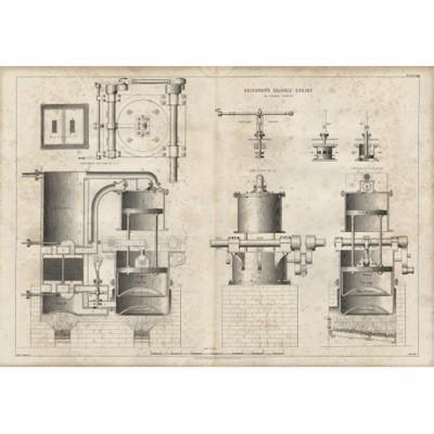 Гравюра «Паровой двигатель Эриксона»
