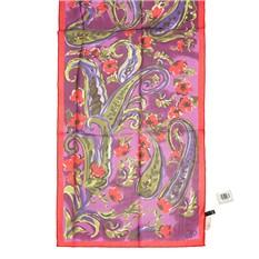 Женский шарфик абстракция в тонах фуксия Gaia
