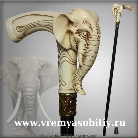 Эксклюзивная трость ручной работы Слон 2