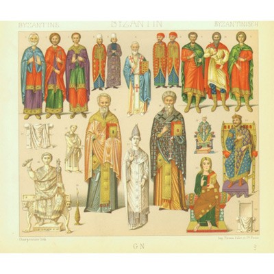Древняя Визания: одежда знати и духовенства