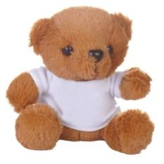 Мягкая игрушка «Медвежонок Умка в футболке» (коричневый)