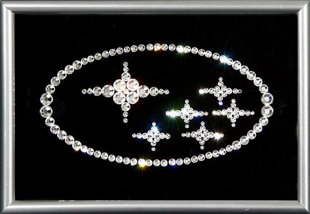 Картина с кристаллами  Swarovski Subaru
