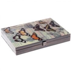 Шкатулка для денег и документов Бабочки