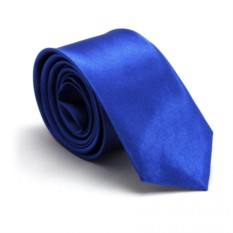 Узкий галстук (синий)