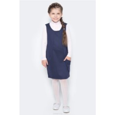 Темно-синий трикотажный сарафан для девочки Nota Bene