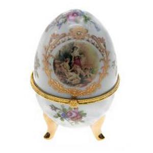 Шкатулка фарфоровая Яйцо 12 см