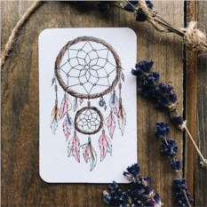 Мини открытка-бирка Ловец снов