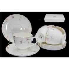 Чайный набор Английский сад, 12 предметов (костяной фарфор)