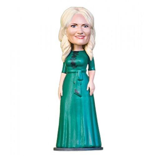 3D шарж  Зеленое платье