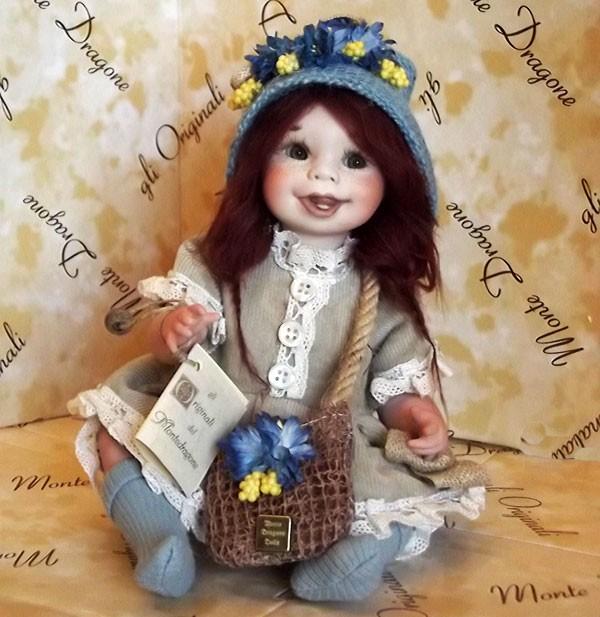 Итальянская фарфоровая кукла Бэтта Montedragone 26 см