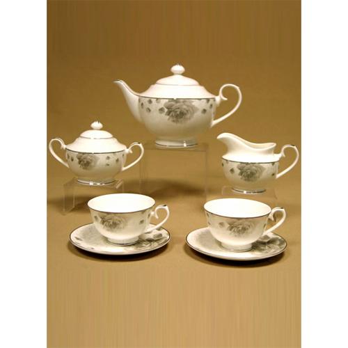 Сервиз чайный «Серая роза»