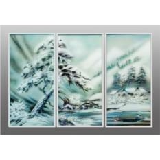 Картина Swarovski Горное озеро, 3220 кристаллов, 60х90