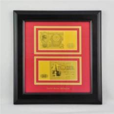 Картина с банкнотой 100 руб. ( СССР), двусторонняя