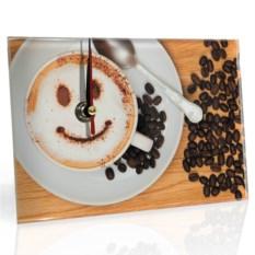 Настольные часы Кофе с улыбкой