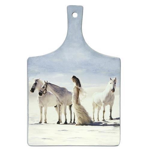 Доска разделочная Лошади и невеста - символ 2014 года