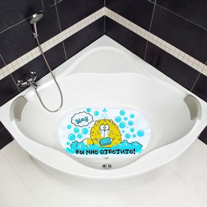 Коврик для ванной Взмыленный кот